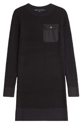 Marc By Marc Jacobs Knitted Cotton Silk Sweater Dress Black