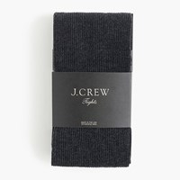 J.Crew Ribbed Tights In Heather Charcoal Hthr Charcoal