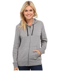 Hurley Solid Icon Zip Fleece Heather Cool Grey Women's Sweatshirt Gray