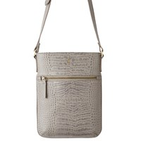 Joules Mayfair Leather Across Body Bag Grey Croc