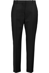 Mcq By Alexander Mcqueen Cropped Wool Straight Leg Pants Black
