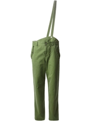 Marc By Marc Jacobs Crossbody Suspender Strap Trousers Green
