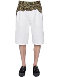 Comme Des Garcons Cotton Twill And Poplin Bermuda Shorts