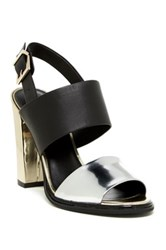Kenneth Cole Susie Open Toe Ankle Pump Metallic