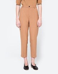 Ganni Moscow Tailor Pants Tobacco Brown