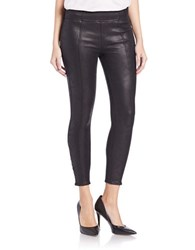7 For All Mankind Seamed Faux Leather Leggings Black