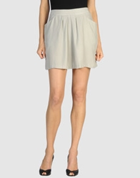 Lutz And Patmos Mini Skirts Light Grey