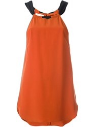Cedric Charlier Cedric Charlier Halter Neck Tank Yellow And Orange