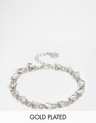 Designsix Chain Bracelet With Gems Silver