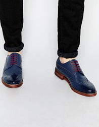 Leather Brogues Navy