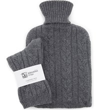 Johnstons Cashmere Socks And Hot Water Bottle Set Smog
