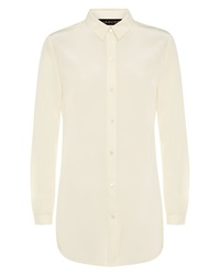 Jaeger Silk Oversized Casual Shirt White
