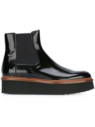 Tod's Elastic Panel Ankle Boots Black