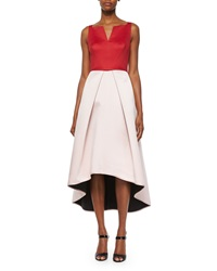 Milly Sleeveless Colorblock High Low Dress