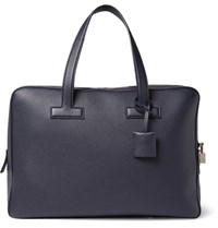 Tom Ford Grained Leather Briefcase Navy