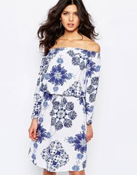 Y.A.S Hope Dress In Mixed Print All Over Print Blue