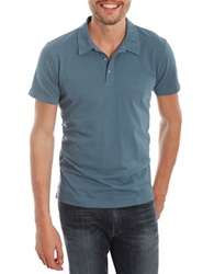 Lucky Brand Solid Polo Copen Blue