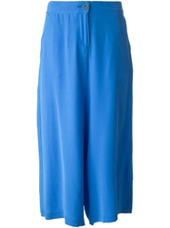 Douuod Cropped Trousers Blue
