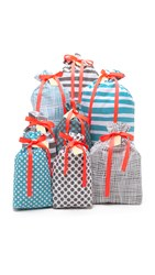 Bag All Set Of 8 Holiday Gift Bags Blue Grey