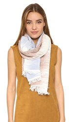 Rag And Bone Ombre Scarf Sky Blue