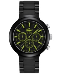 Lacoste Men's Chronograph Borneo Black Resin Composite Bracelet Watch 44Mm 2010756