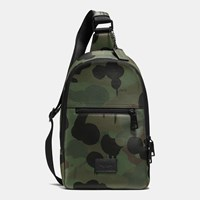 Coach Campus Pack In Printed Pebble Leather Black Military Wild Beast