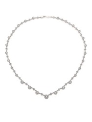 Kwiat Sunburst Diamond And 18K White Gold Tennis Necklace