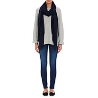 Barneys New York Women's Cashmere Oversized Scarf Navy