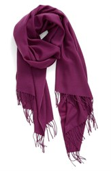 Nordstrom Women's Tissue Weight Wool And Cashmere Scarf Purple Passion