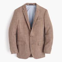 J.Crew Ludlow Blazer In Italian Linen Silk Stable Brown
