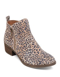 Lucky Brand Basel Zip Up Booties Leopard