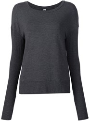 Alo Yoga Open Back Sweatshirt Grey