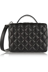 Sandro Aniss Quilted Leather Shoulder Bag Black