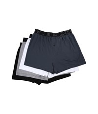 Jockey Active Knit Boxer Nerves Of Steel Blue White Small Gird Black Men's Underwear Multi