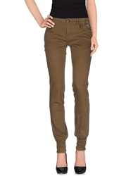 Desigual Casual Pants Military Green