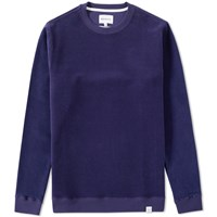 Norse Projects Vagn Brushed Crew Sweat Blue