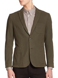 J. Lindeberg Unconstructed Cotton Blazer Military Green