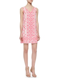 Alice And Trixie Sleeveless Tile Print Shift Dress