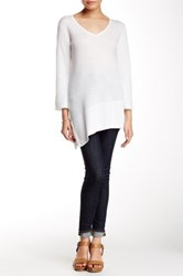 Cullen Asymmetric V Neck Sweater White