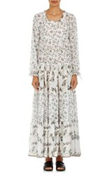Warm Women's Holiday Swiss Dot Chiffon Dress White