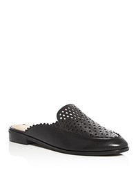 Via Spiga Adeline Geometric Cutout Mules Black