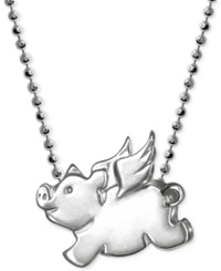 Alex Woo Little Pig Zodiac Pendant Necklace In Sterling Silver