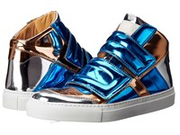 Maison Martin Margiela Mirrored High Top Blue Copper Silver Mirror Women's Shoes