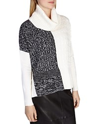Karen Millen Color Blocked Knit Sweater