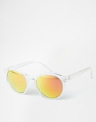 Selected Bahamas Round Sunglasses White