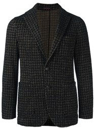 The Gigi 'Angie' Houndstooth Jacket Black