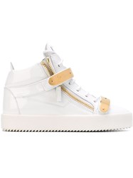Giuseppe Zanotti Design Zip Detail Hi Top Sneakers White
