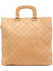 Chanel Vintage Fold Down Tote Brown