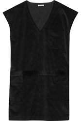 Tomas Maier Cotton Corduroy Mini Dress Black