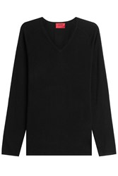 Hugo Cotton Blend Pullover With Silk And Cashmere Gr. M